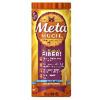 Metamucil Daily Fiber Supplement, 100% Natural Psyllium Husk, Orange Smooth Sugar Free Fiber Powder, 72 Doses