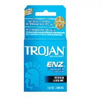 TROJAN Enz Condoms Lubricated Latex 3 Each