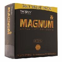 TROJAN Magnum Lubricated Latex Condoms, Large Size 36 ea