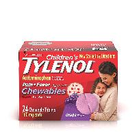 Children's Tylenol Chewables, Grape, 24 Ct.