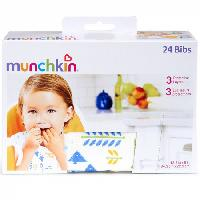 MUNCHKIN BIBS DISPOSABLE 24 CT